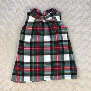 Carter's Plaid Dress 6M Peter Pan Collar Red Green